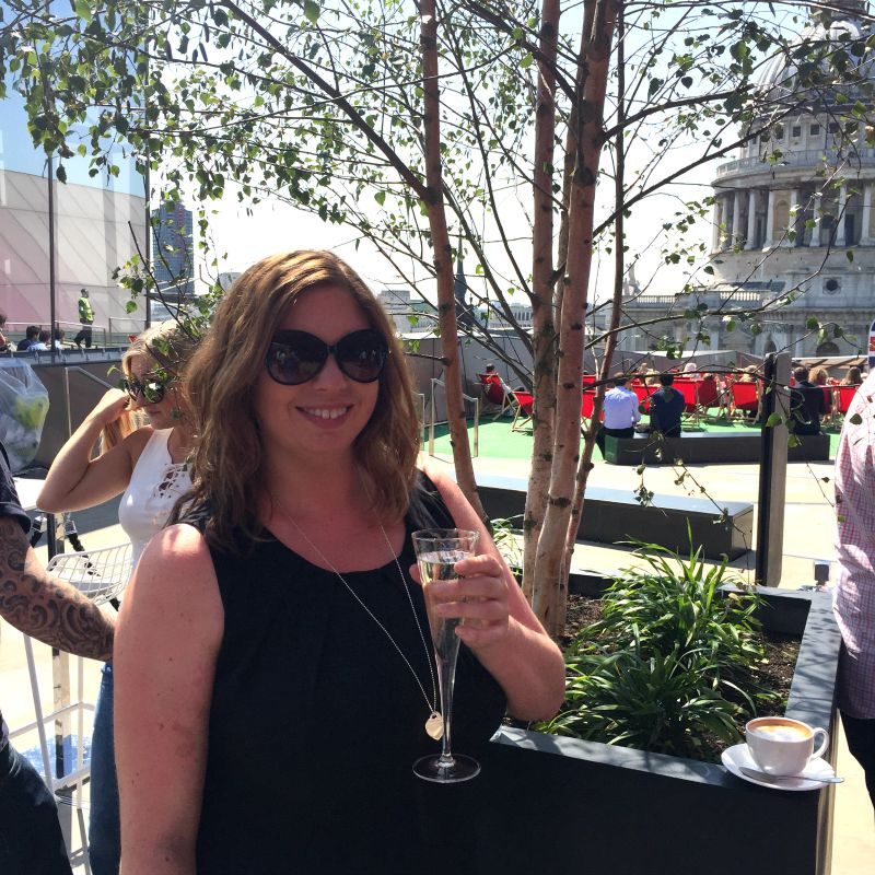Prosecco at the Madison Roof Garden London