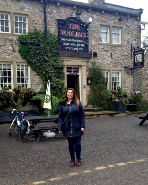 Caroline Towers at The Woolpack, Emmerdale