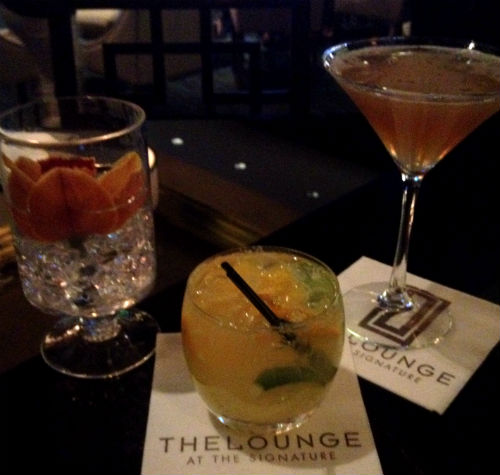 Cocktails at The Lounge, Signature Suites