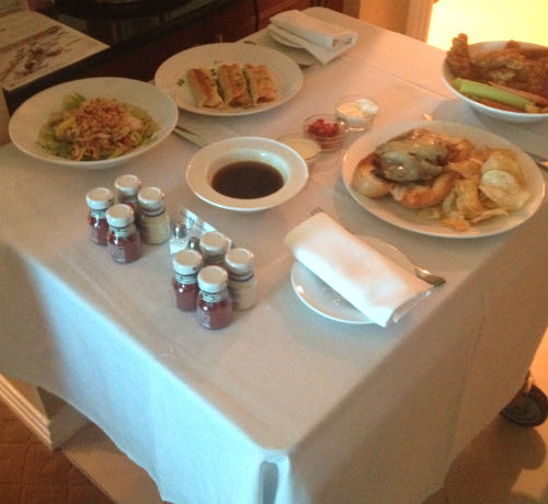 Room Service at the Signature Suites
