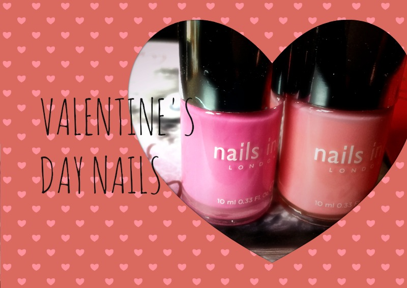 Pink Valentine's Day Nails. www.conversationswithcaroline.com