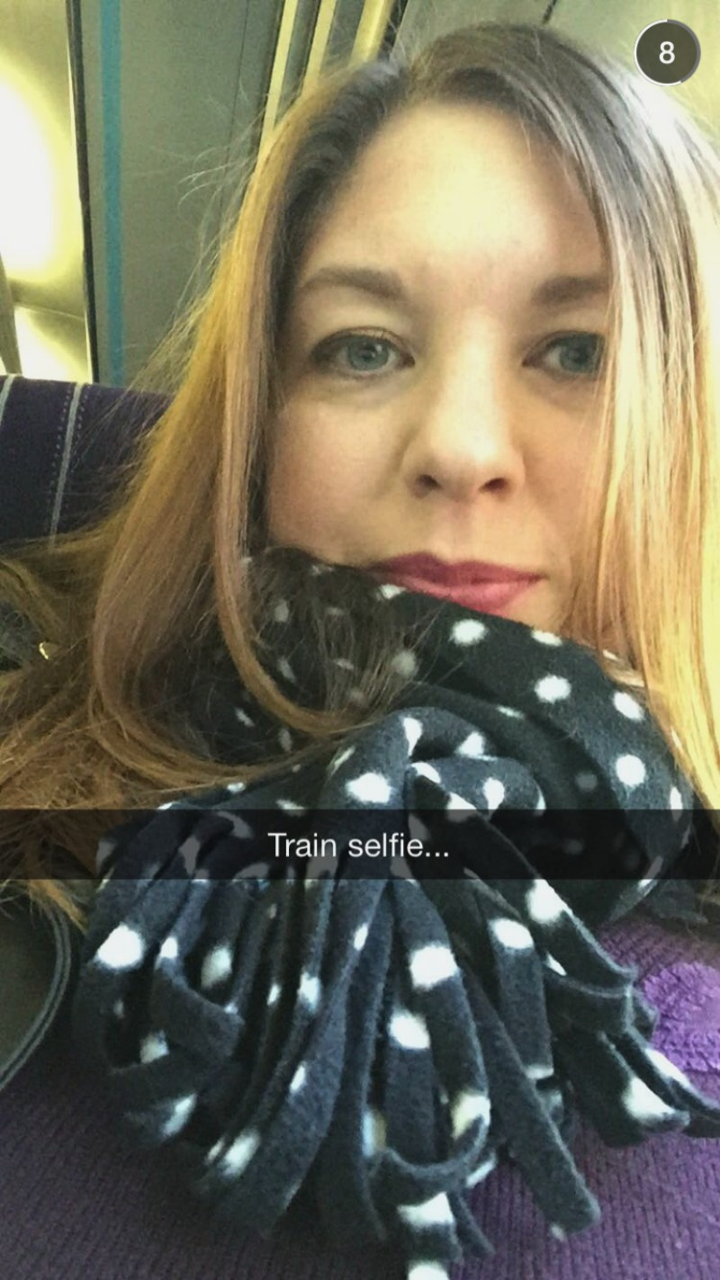 train selfie