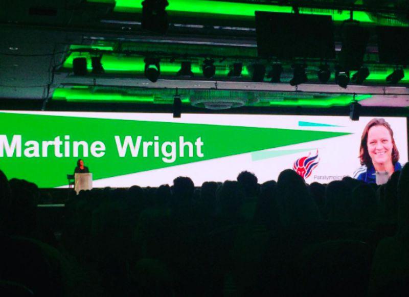 Martine Wright speaking