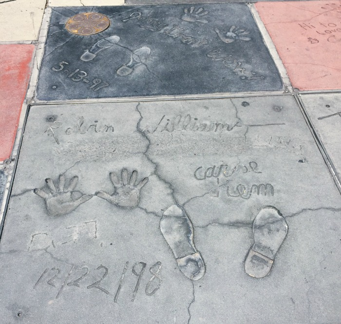 Robin Williams Hand and Footpirints at Chinese Theatre Hollywood