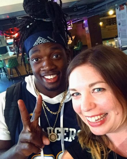 Bowling with Melvin Gordon