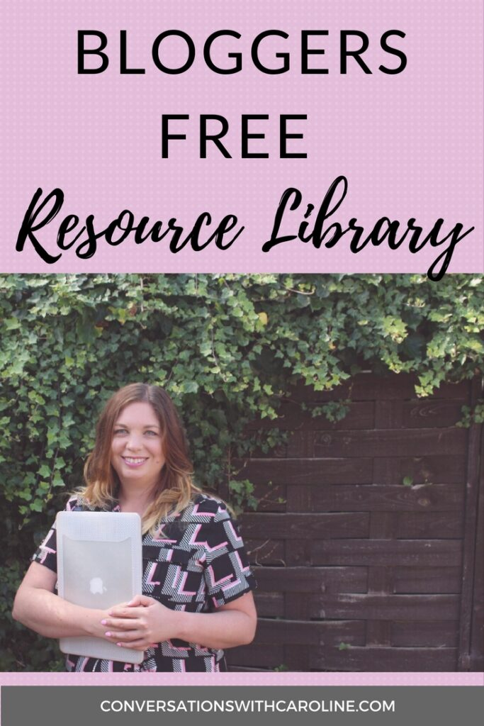 Bloggers free resource library
