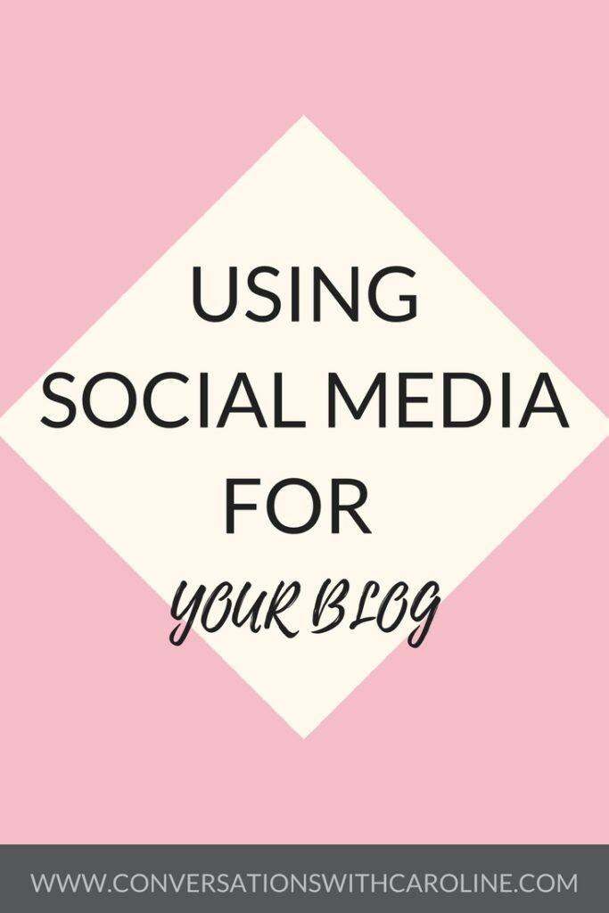 Using social media platforms for your blog