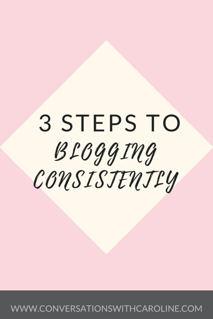 3 Steps to Blogging Consistently